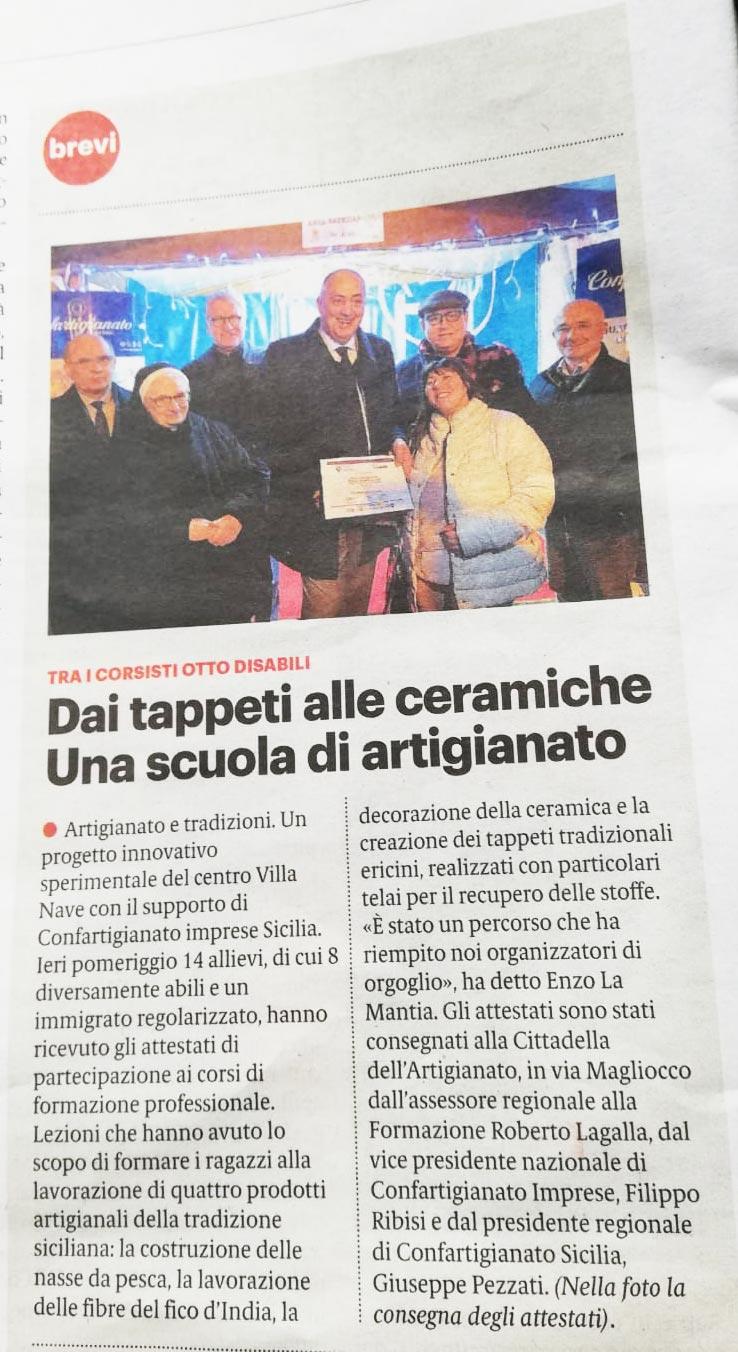 Giornale di Sicilia, 23 dicembre 2018